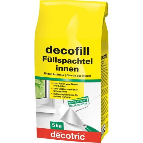 Decofill Enduit de rebouchage et de lissage 5 kg,Tute decotric