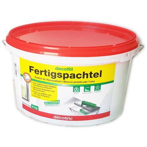 Decofill fertigspachtel fs5 stucco bianco leggero pronto all'uso, scegli il formato 8kg