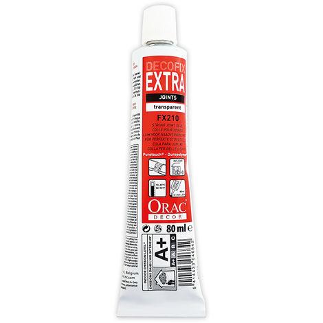 DecoFix Extra Adhesivo extra fuerte Tubo de 80 ml Orac Decor FX210 Adhesivo de instalación para la unión der perfiles