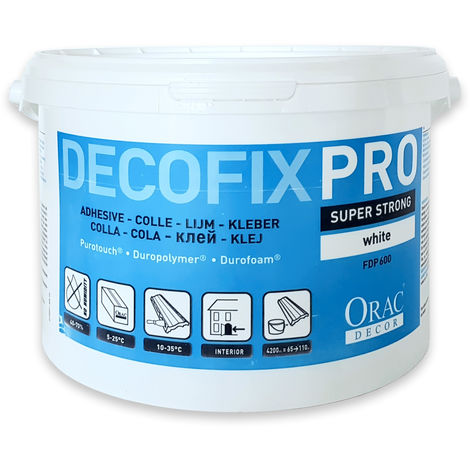 DecoFix PRO Installation adhesive 6.4 kg water-based acrylic Orac Decor FDP600 glue for mouldings profiles cornices
