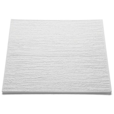 Decoflair Bianco spécial T80 dalle pafond 500x500x6mm, pack 2m²
