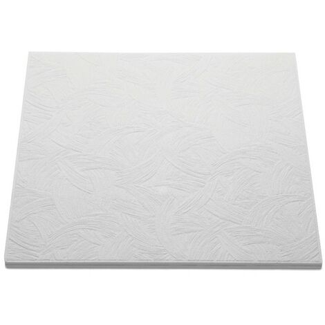 Decoflair Bianco T133 dalle pafond 500x500x10mm, pack 2m²