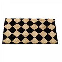 Decoir Doormat Black & Cream White 75x45
