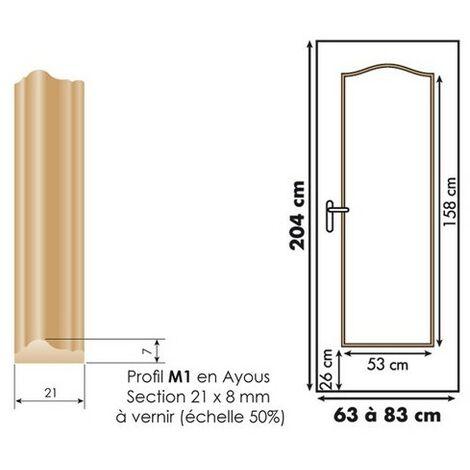 Décor de porte : kit 1 panneau doucine à vernir