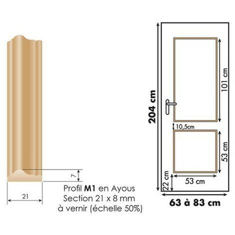 Décor de porte : kit 2 panneaux droits à vernir