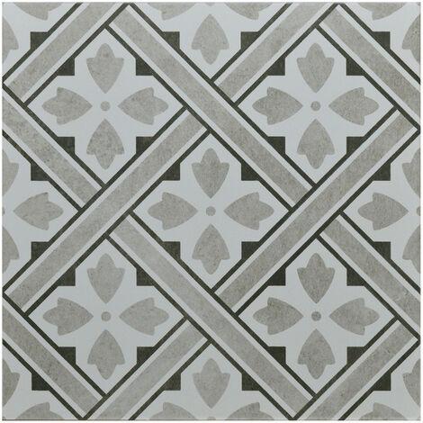 "main image of ""Decor Light Grey 33cm x 33cm Porcelain Floor Tile"""