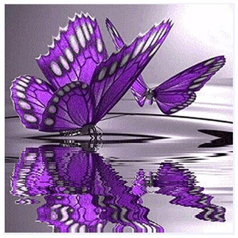 Decoración de bordado de punto de cruz de mariposa de pintura de diamante 5D Sasicare