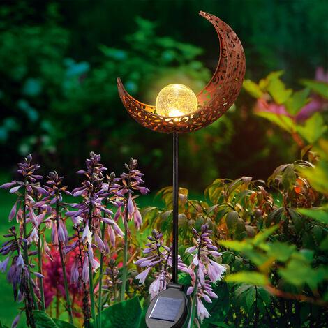 Decoración de luna para jardín, solar, con LED color blanco cálido esotec 102372
