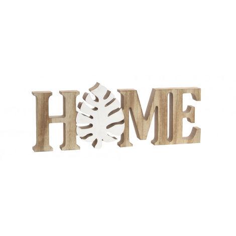 Decoración de Madera Home, 2 Modelos a elegir. Estilo Tropical, Decoración del hogar Original/Moderna 30X2,5X11cm Blanco