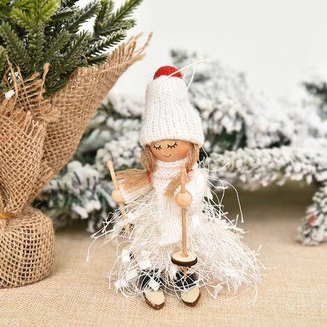 Decoracion de Navidad del muchacho y del esqui de la muneca del arbol colgante colgar adornos de Navidad Manualidades Elfos, Decoracion estilo 1