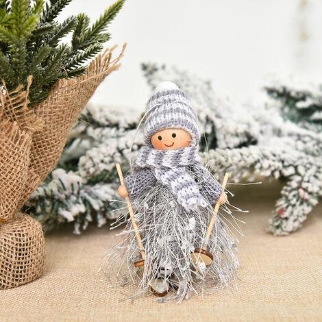 Decoracion de Navidad del muchacho y del esqui de la muneca del arbol colgante colgar adornos de Navidad Manualidades Elfos, Decoracion estilo 5