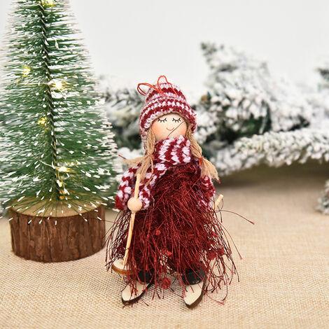 Decoracion de Navidad del muchacho y del esqui de la muneca del arbol colgante colgar adornos de Navidad Manualidades Elfos Decoracion, Estilo 6
