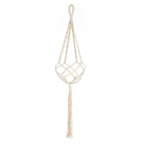 Decoracion de pared tejida a mano, bolsa de red de maceta, cordon de cesta colgante