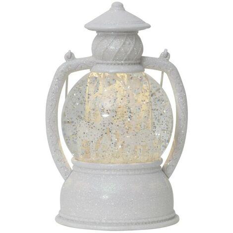 Decoración del hogar LED blanco linterna de bola de nieve
