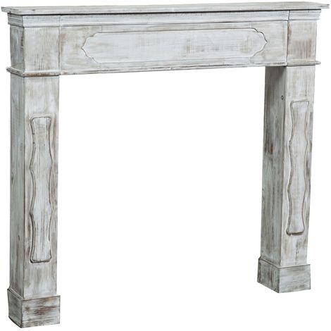 Decoración del marco decorativo de la chimenea de madera Diseño de la chimenea de madera L112xPR17xH102 cm