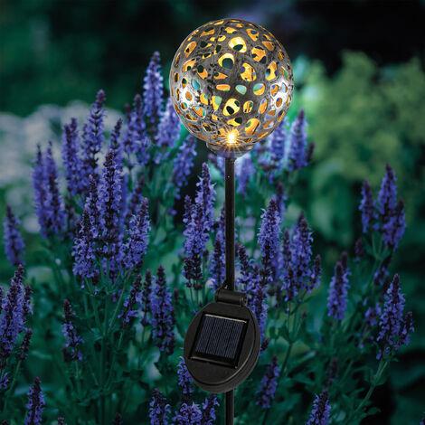 Decoración esférica solar de jardín LED blanco cálido esotec 102385