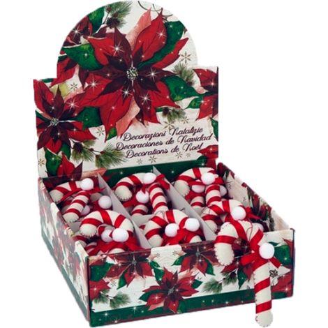 Decoración Navidad Bastoncito Fieltro Blanco AC-17820