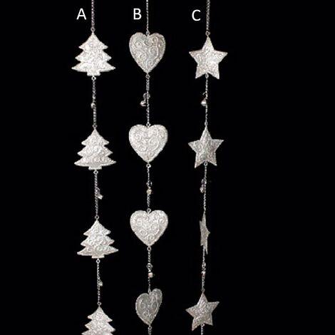 Decoración navidad cadena metal con cascabeles (108x7) tres modelos B