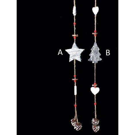 Decoración navidad papel maché (71 cm) árbol/estrella A