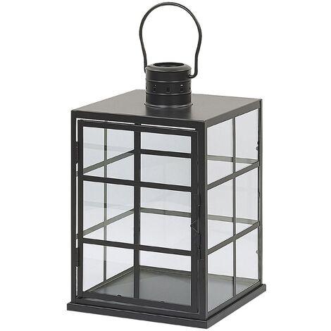 Decoratice Lantern Metal Black BINTAN
