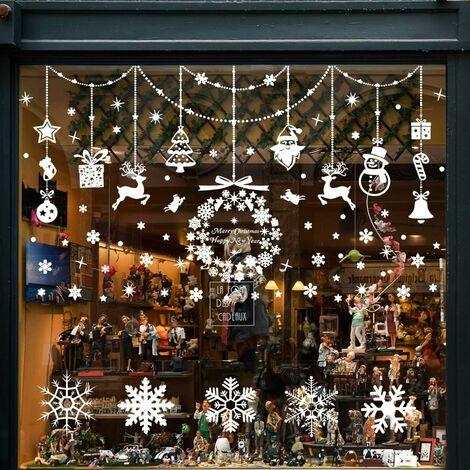 Décoration de Noel, Stickers Fenetre Stickers Noel Vtrine Stickers Reine des Neiges, Amovibles PVC, Rend la Maison Pleine de l'atmosphère de Noël
