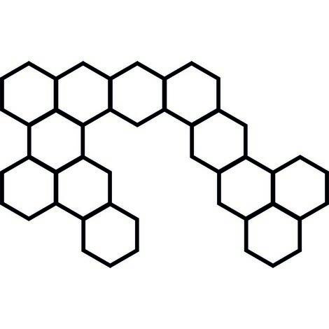 Decoration de Pared Moodboard Hexagon - Muro de Arte Mural - Portafotos - para la sala de estar, la habitacion - Negro en MDF, 52 x 1 x 33 cm, Jeder Clip 0,8 x 0,3 x 1,5 cm