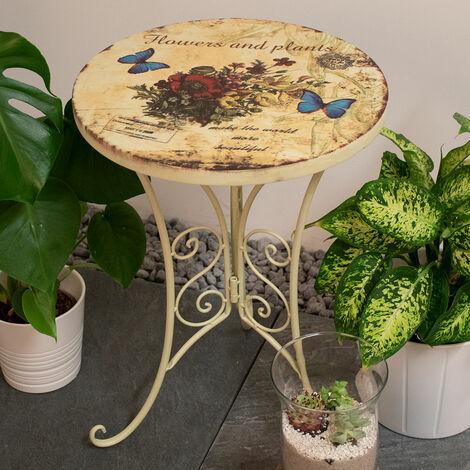 Décoration de table de bistrot côté jardin mobilier d'extérieur fleurs d'aspect minable papillon