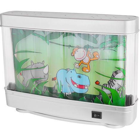 Décoration LED écrit table de nuit lampe de salle de jeux pour enfants lampe d'aquarium mobile jungle animaux motifs Globo 28962