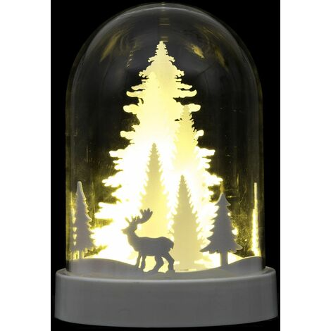 Décoration lumineuse de Noël design dome Dahlia - Sapin - Blanc
