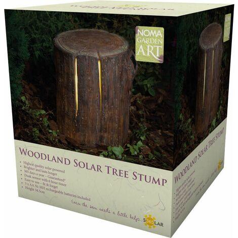 Décoration lumineuse tronc d'arbre 34 cm