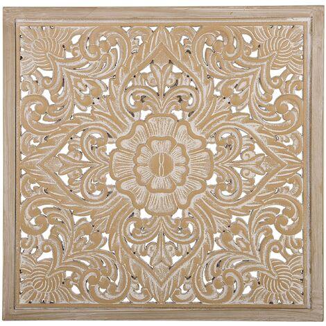 Décoration murale bois clair et blanc YONORA , 135918
