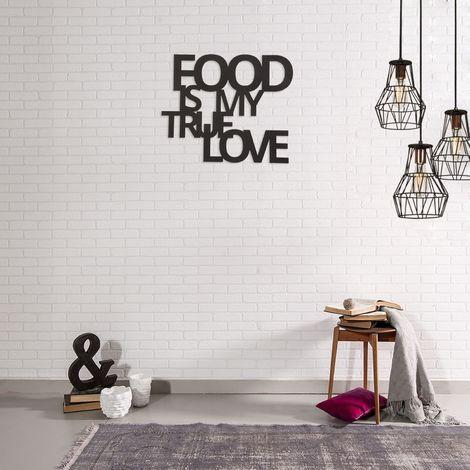 Décoration murale en métal - L. 50 x H. 42 cm - Food