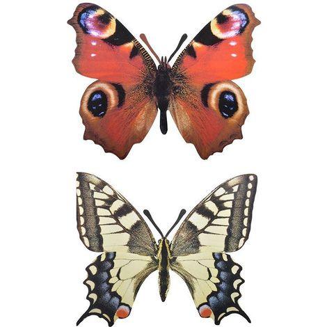 Décoration murale papillon (Lot de 2)