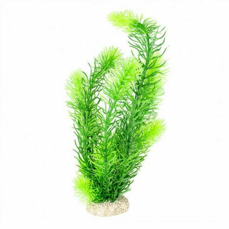 Décoration pour aquarium plante artificielle verte - Taille L