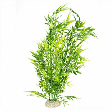 Décoration pour aquarium plante bambou flexible - Taille XL