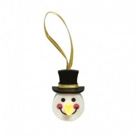 Décoration pour sapin LED bonhomme de neige