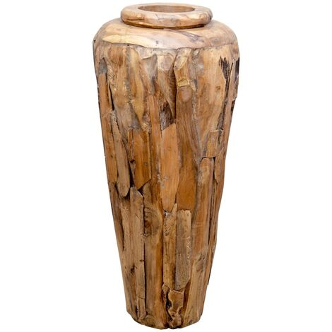 Decoration Vase 40x80 cm Solid Teak Wood
