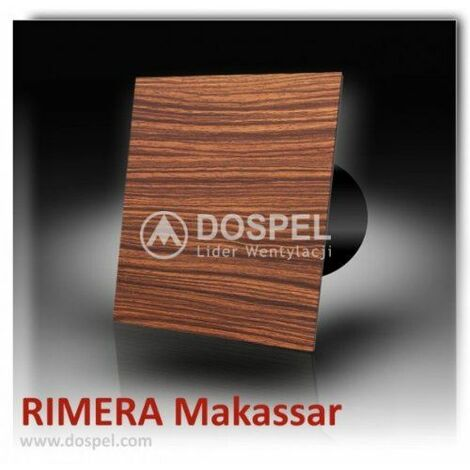 Decorative Bathroom Extractor Fan, Rimera 100mm Makassar Standard