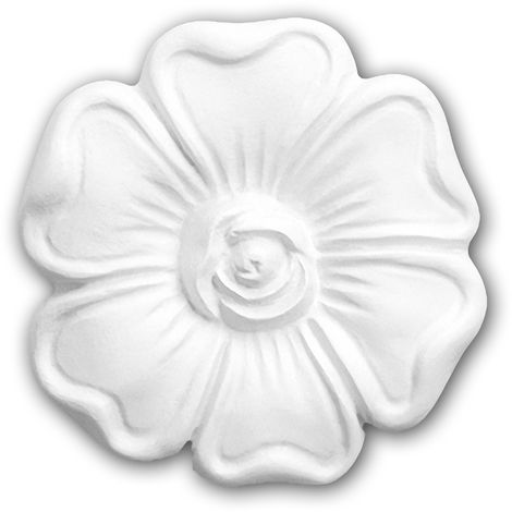 Decorative Element 160006 Profhome Ceiling Rose timeless classic design white Ø 6 cm