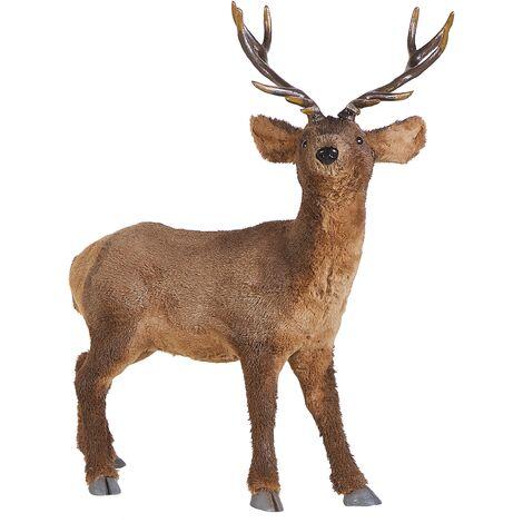 Decorative Figurine Reindeer Brown NIESI