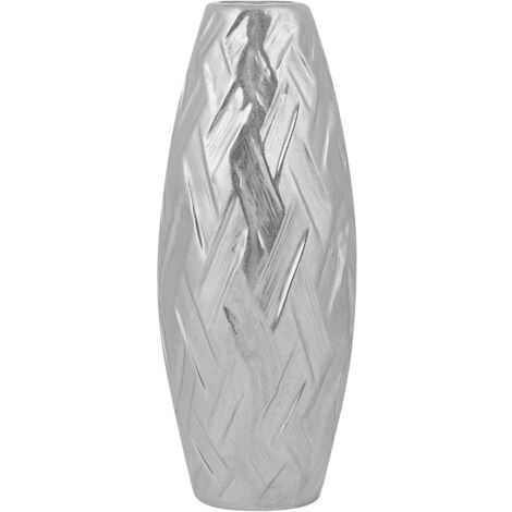 Decorative Flower Vase Silver ARPAD