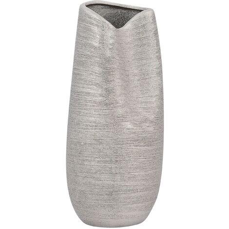 Decorative Flower Vase Silver DERBE