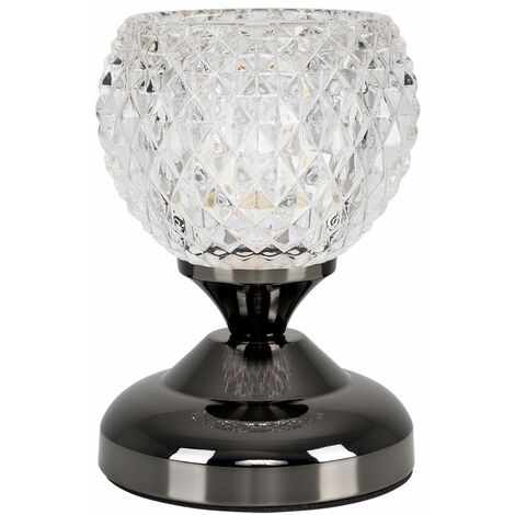 Decorative Glass Bedside Touch Table Lamp