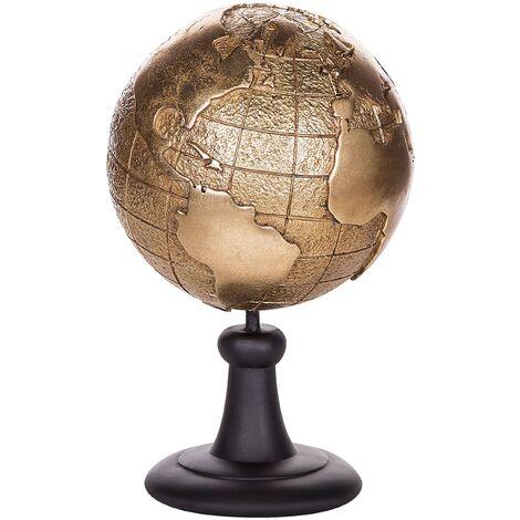 Decorative Globe Gold EARTH