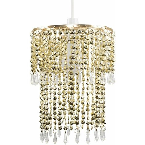 Decorative Jewel Acrylic Bead Ceiling Pendant Light Shade