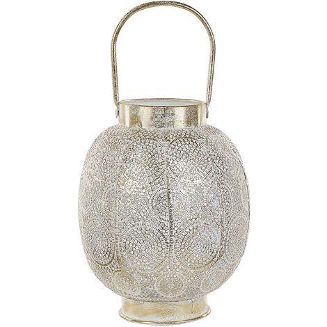 Decorative Lantern 30 cm Metal Gold LANTAU