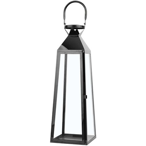 Decorative Lantern 42 cm Black CRETE