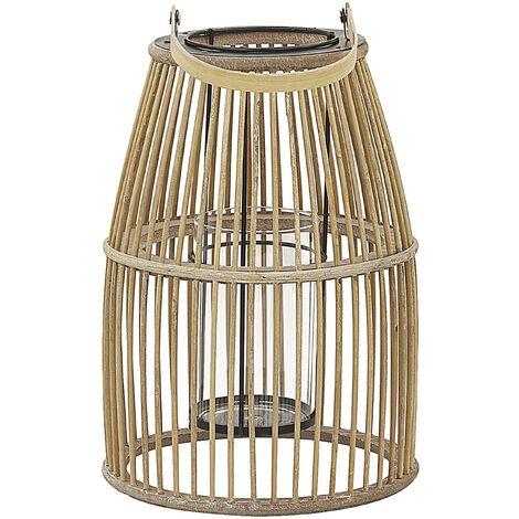 Decorative Lantern Bamboo Beige HOSTE