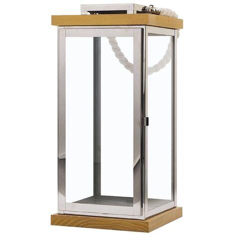 Decorative Lantern Glass Silver BORNEO