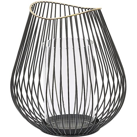 Decorative Lantern Metal Black THURSTON